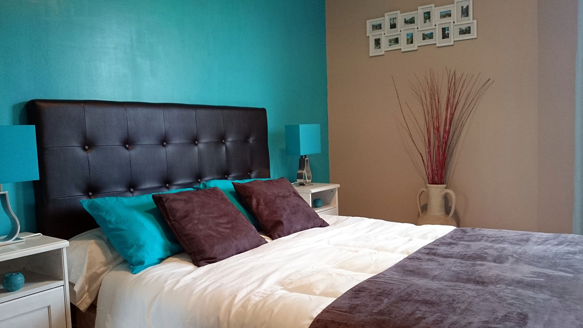 good chambre bleu turquoise with chambre bleu turquoise. Black Bedroom Furniture Sets. Home Design Ideas